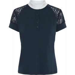 Equipage Brooke kortermet stevneskjorte – Navy