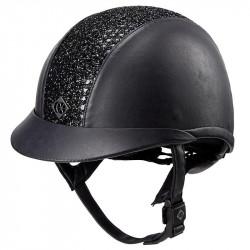 Charles Owen AYR8 Plus Sparkly Ventil Leatherlook - Sort